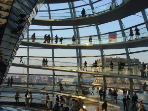 at the Reichstag in Berlin