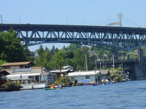 some other kayakers out in portage bay