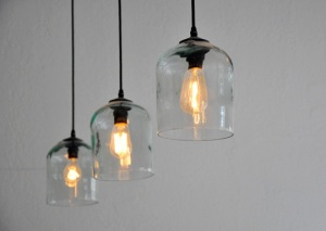 Vintage Cider Jug Pendants. Image via Apartment Therapy.