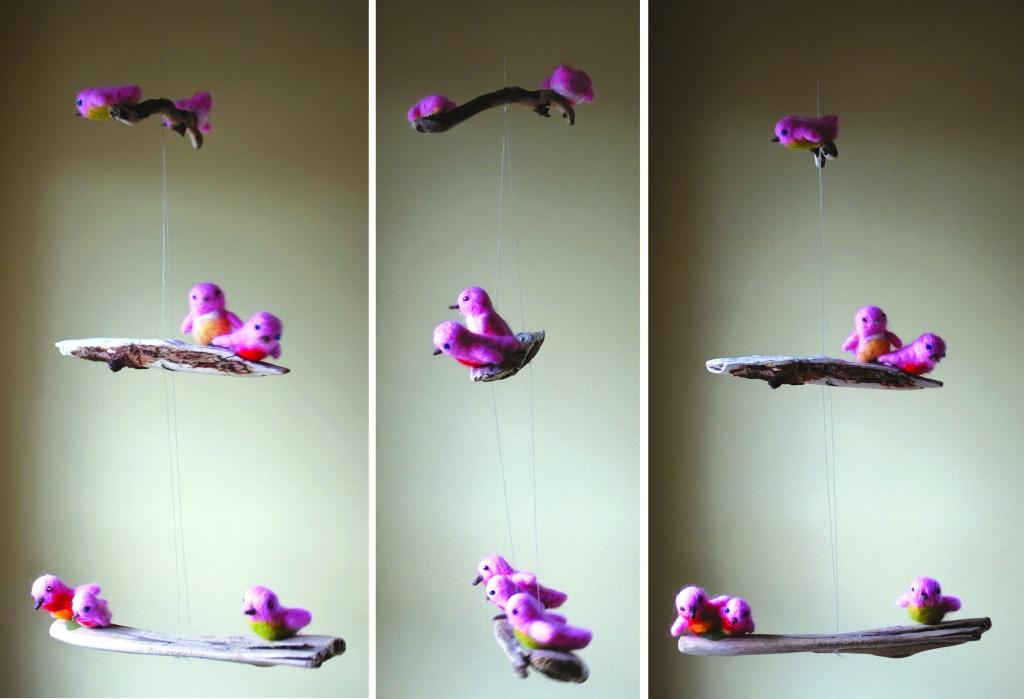birdies in flight