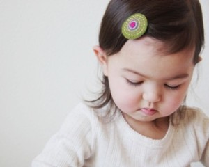 Inspiration: These adorable felt toddler hair clips from ModernBean