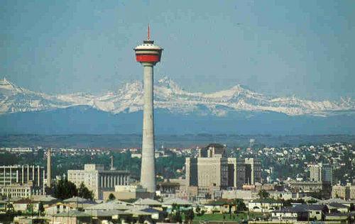 Calgary Tower in 1968. Via Sherlock77's Photostream