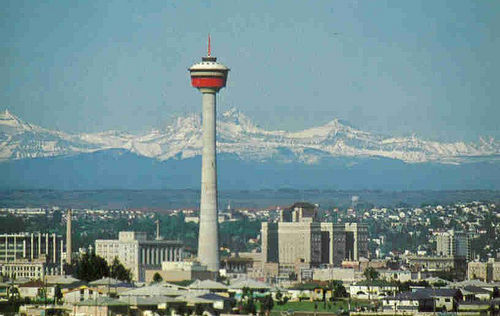Calgary Tower in 1968. Via Sherlock77's Photostream
